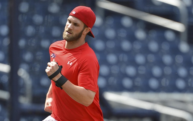 Bryce Harper is still a few weeks away from rejoining the Nationals.