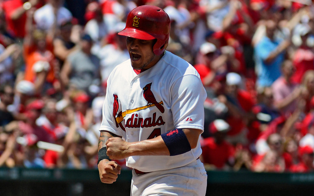 Yadier Molina will reportedly miss 8-12 weeks with a thumb injury