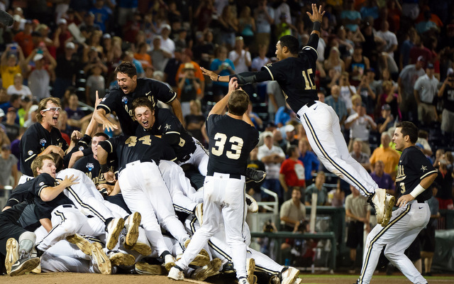 The Vanderbilt Commodores are the 2014 College World Series champions.