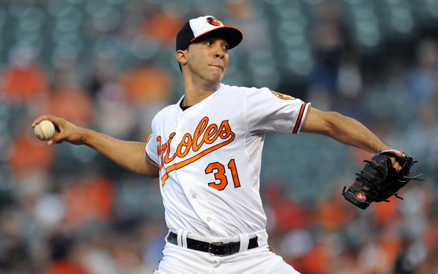 The Orioles will be without Ubaldo Jimenez for at least two weeks.