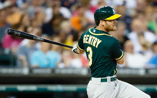 The A's will be without Craig Gentry for a while.