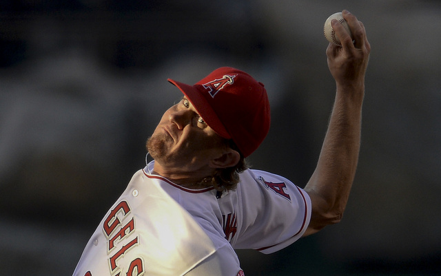 Jered Weaver's back is giving him trouble again.