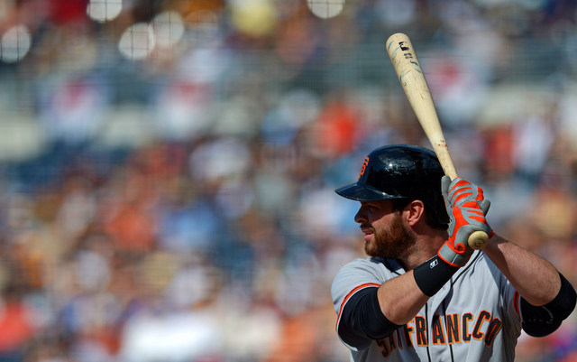 Brandon Belt is heading back to the 7-day concussion DL.