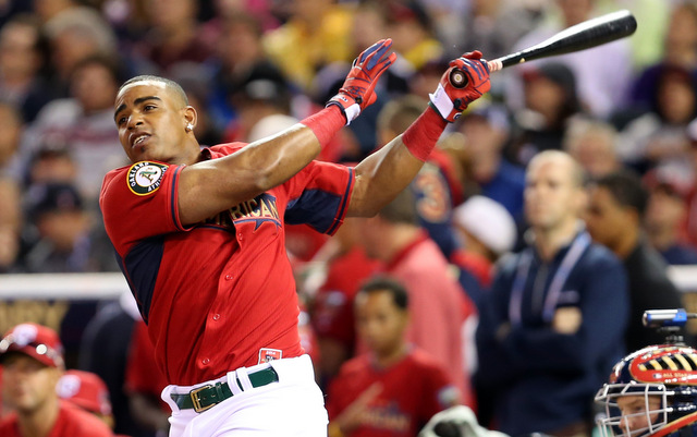 Once again, Yoenis Cespedes is the Home Run Derby champion.