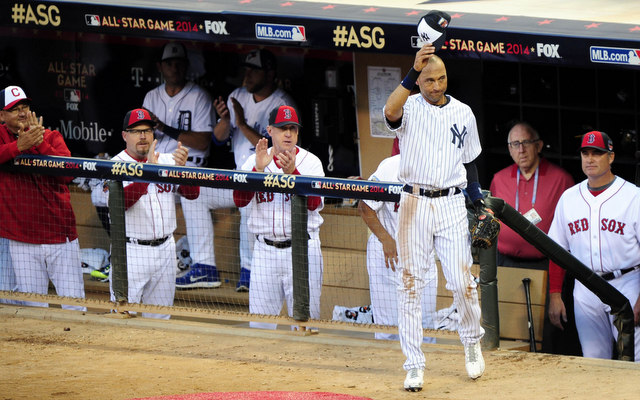 Derek Jeter had two hits in his final All-Star Game.