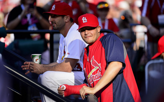 Yadier Molina took a step towards returning to the Cardinals on Wednesday.