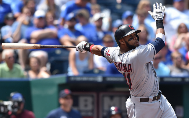 Carlos Santana hit five home runs this weekend.