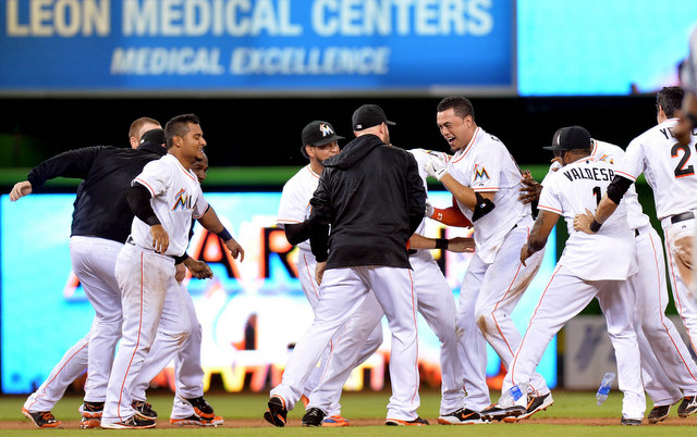 MVP candidate Giancarlo Stanton has the Marlins in the thick of the NL wild-card race.