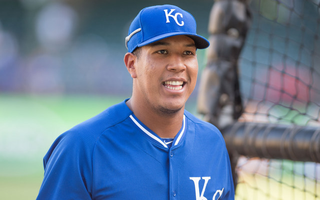 Salvador Perez likes to smell good behind the plate.