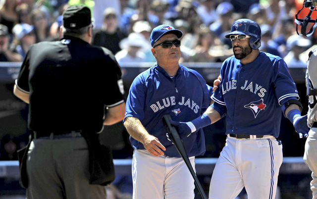 John Gibbons was not happy Jose Bautista was ejected on Sunday.