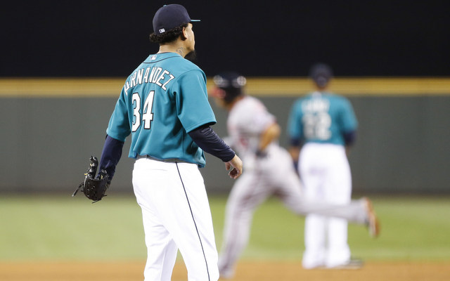 Felix Hernandez allowed four homers for the first time in his career on Friday.