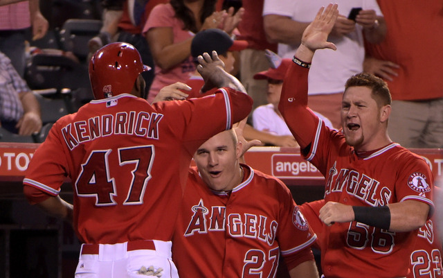 The Angels can officially celebrate their first AL West title in five years.