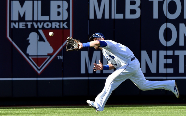 Alex Gordon is up for his fourth Gold Glove in left field.