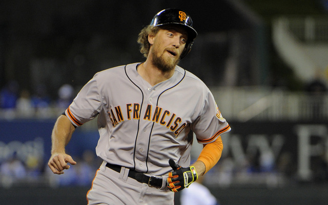 Hunter Pence came up big in Game 1 of the World Series. (USATSI)