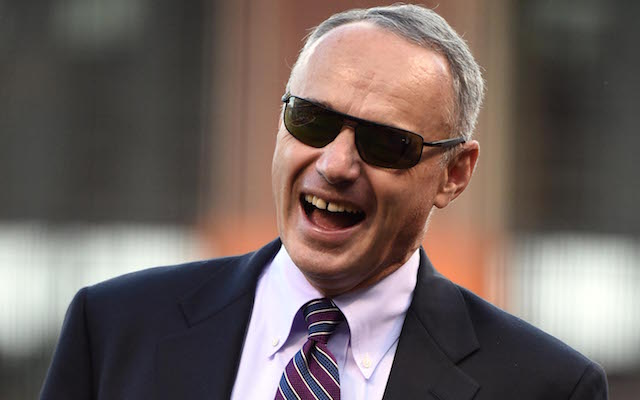 New MLB commissioner Rob Manfred floats a big change during his first day on the job. (USATI)