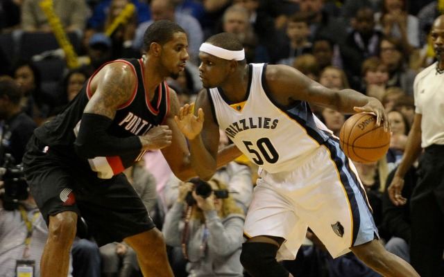 Zach Randolph reminds LaMarcus Aldridge about the beauty of summers in Portland.