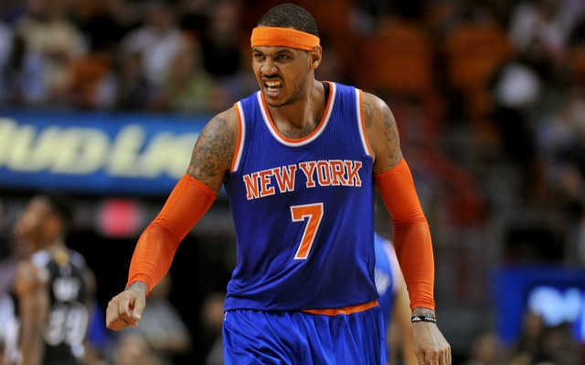Melo is reportedly angry with Phil Jackson.