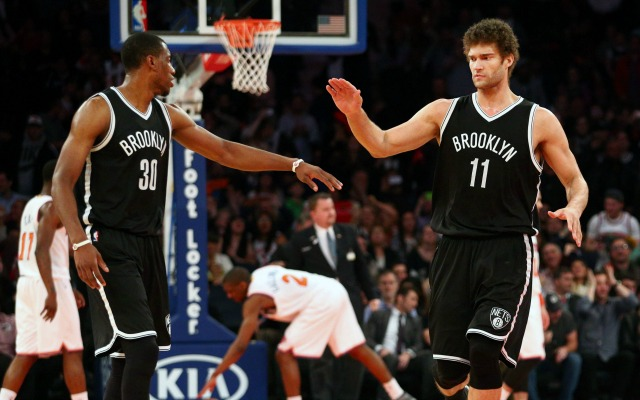 Photo of Thaddeus Young & his friend  Brook Lopez