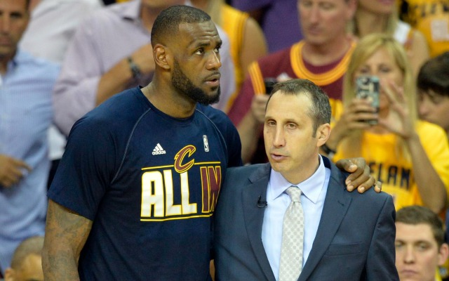 LeBron James and David Blatt savor their Eastern Conference Championship.