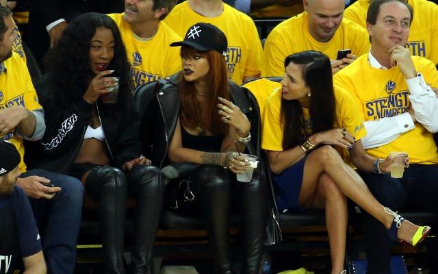 Joe Lacob enjoys Game 1 away from Rihanna.