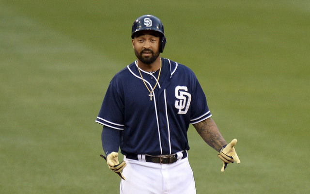 Matt Kemp hit for the first cycle in Padres history on Friday.