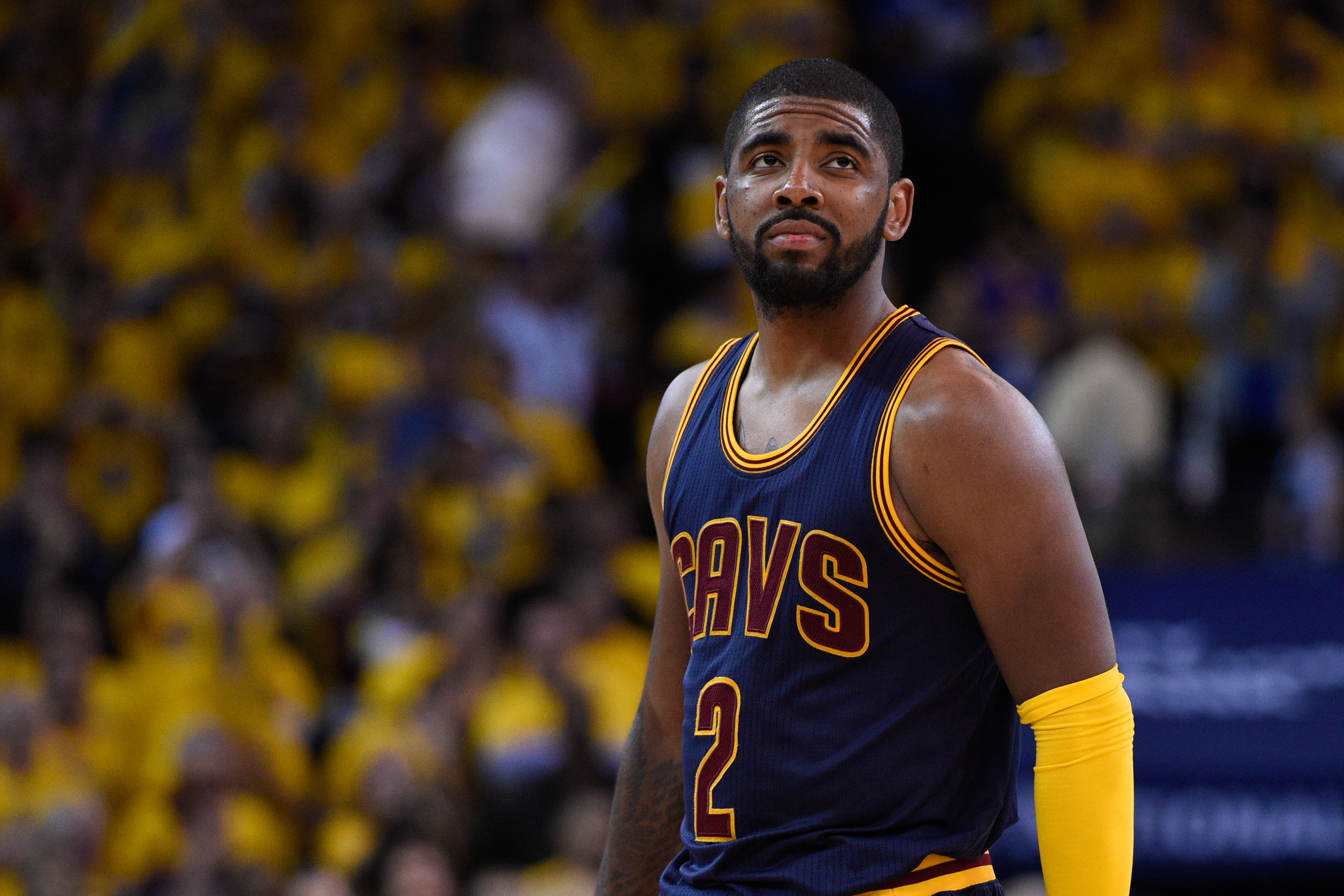 Kyrie Irving may not play until early 2016. (USATSI)
