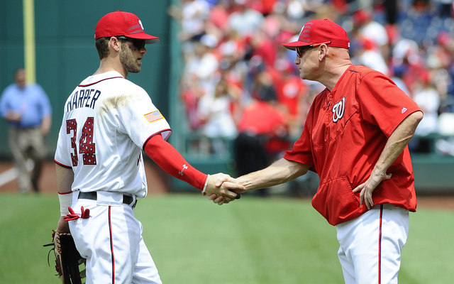 Bryce Harper gave Matt Williams a vote of confidence Tuesday.