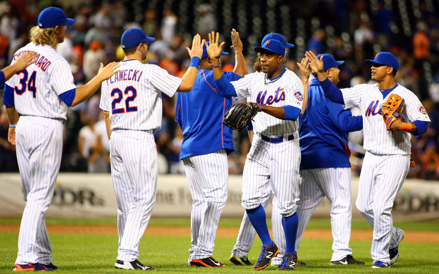 The Mets rallied from behind to win for the eighth time in their last 10 games Monday.