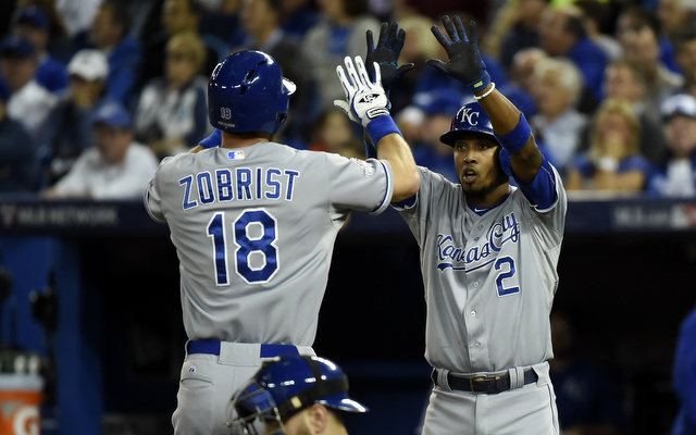 The Royals scored four runs in the first inning of Game 4.