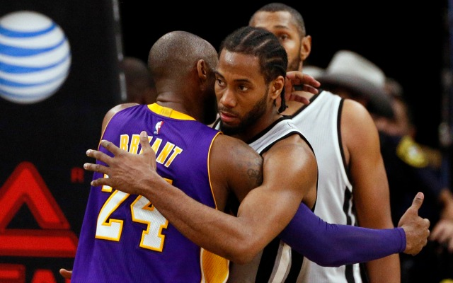 Kobe is looking forward to helping Kawhi Leonard improve his game.
