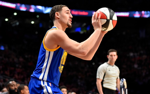 Klay was money from long range in the 2016 Three-Point contest.
