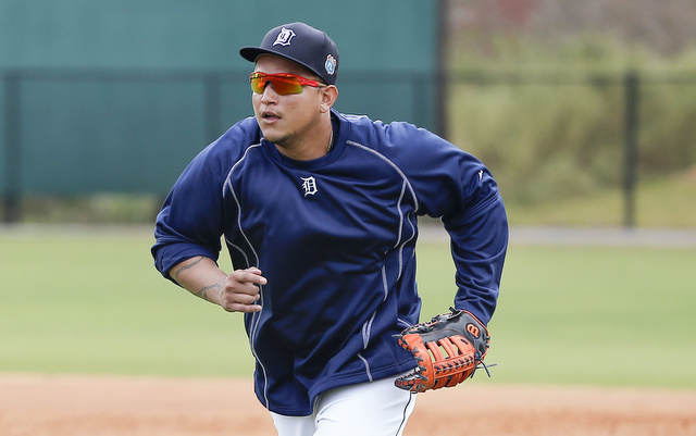 Miguel Cabrera may open the season at third base for the Tigers.
