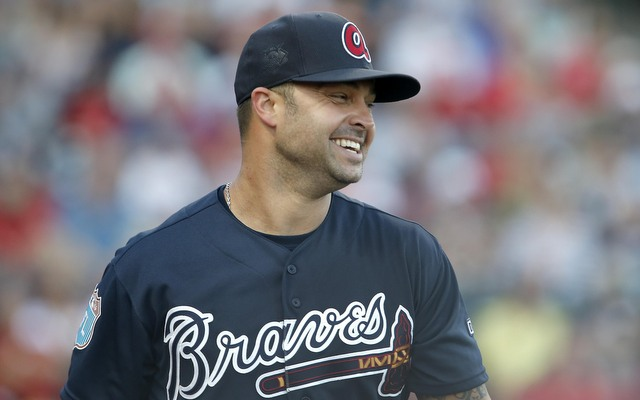 The Braves released Nick Swisher on Monday.