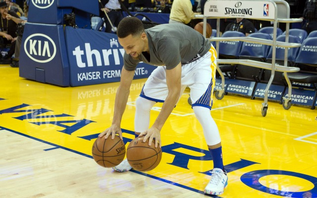 Steph was all smiles on his birthday.