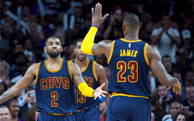 Kyrie, LeBron and the Cavs are heading to the second round.