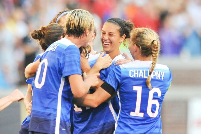 Lloyd leads World Cup queens past Haiti