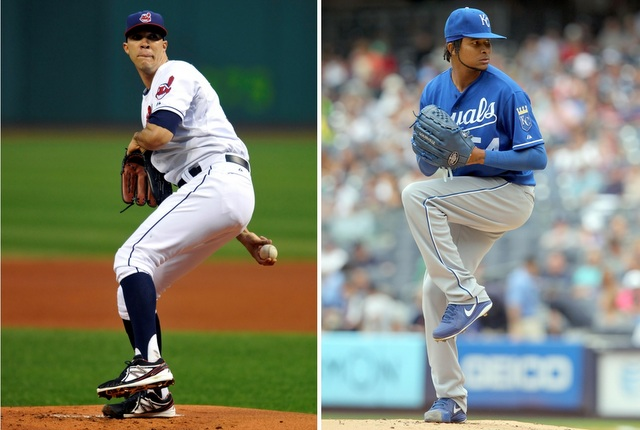 Both Ubaldo Jimenez (left) and Ervin Santana are pitching targets for the Blue Jays.