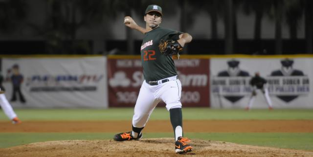 Miami's Javi Salas made some history on Tuesday night. (HurricanSports.com)