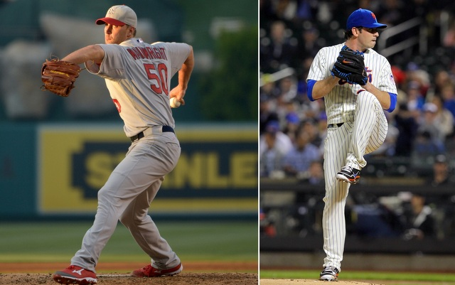 Matt Harvey (right) stands to benefit from Adam Wainwright's new schedule. (USATSI)