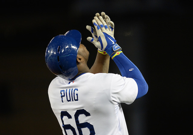 Yasiel Puig and the Dodgers are hoping his hamstring injury is as minor as it seems. (USATSI)