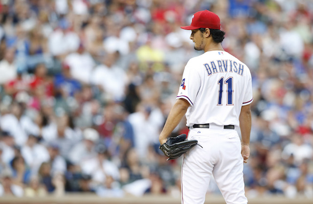 Hold your breath, Rangers fans: Yu Darvish has an elbow injury. (USATSI)