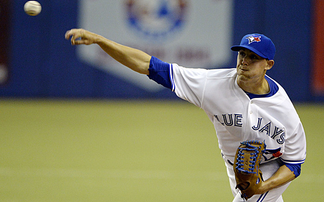 Aaron Sanchez, pitching for the Blue Jays in Montreal last March.