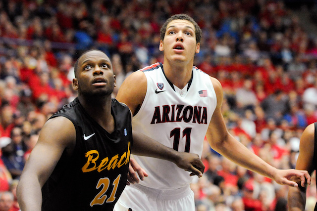 Freshman forward Aaron Gordon is averaging 13.5 points and 10.0 boards so far for Arizona. (USATSI)