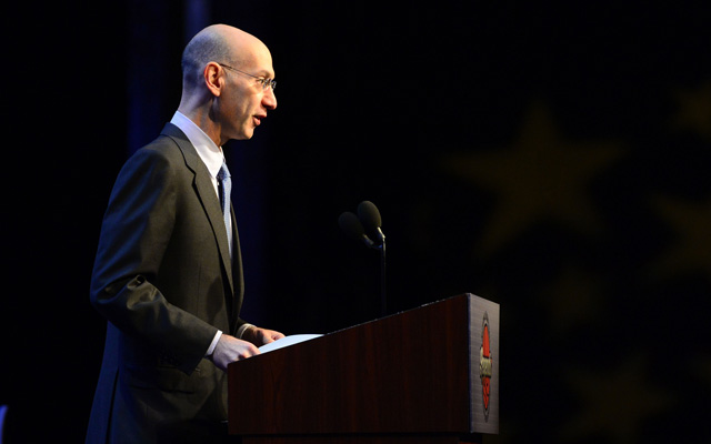 Adam Silver has some bold ideas about student athletes. (USATSI)