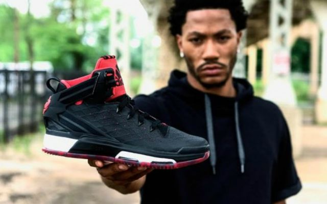 cheap for discount dd901 3b18e Look Derrick Rose Shows Off His New Adidas D 6 Sneakers