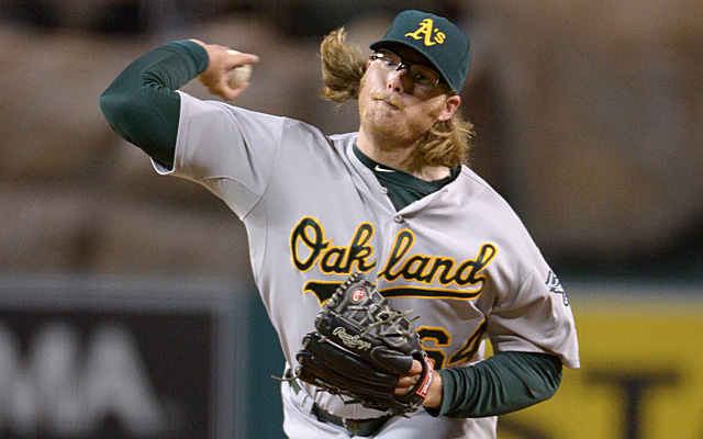 A.J. Griffin's elbow injury hasn't shown any improvement since he stopped throwing March 13.