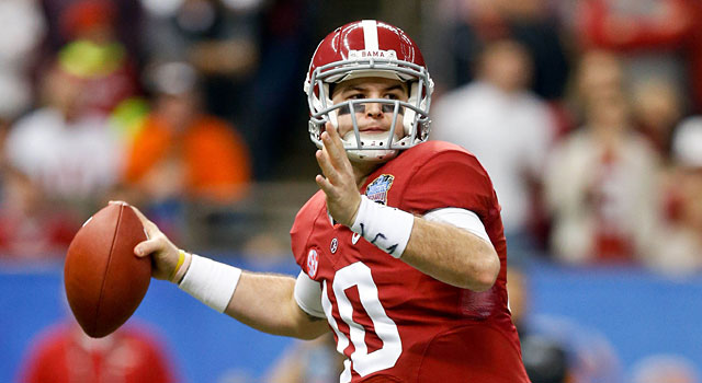 AJ McCarron lost to Oklahoma in the Sugar Bowl, his final college game. (USATSI)