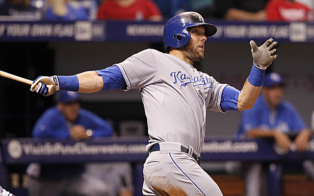 Alex Gordon's injured wrist is right now preventing him from swinging a bat.
