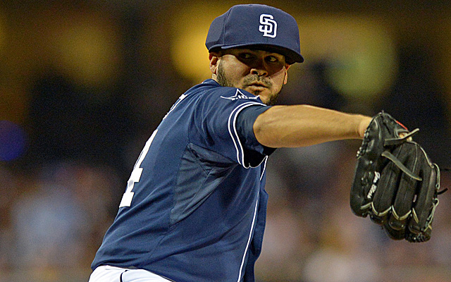 Alex Torres sports his new protective headgear.