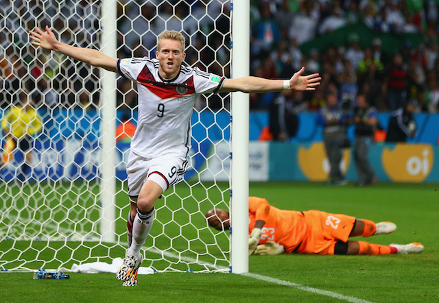 Andre Schurrle scored the first goal for Germany in extra time. (Getty Images)